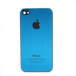 iPhone 4 Bakstycke Borstad Stål (Blå)