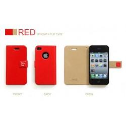 iPhone 4 Retro Plånbok R.Cheery (Röd)