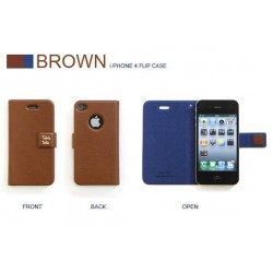 iPhone 4 Retro Plånbok R.Cheery (Brun)