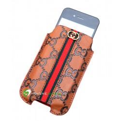 iPhone Gacci Pouch (Ljusbrun)