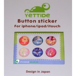 iPhone iPad iPod Sticker Hemknapp 6-pack (Movies)
