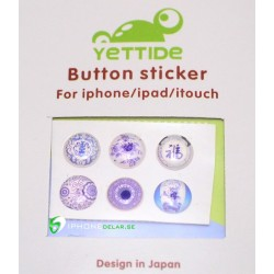iPhone iPad iPod Sticker Hemknapp 6-pack (Japan Style)