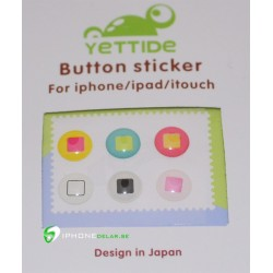 iPhone iPad iPod Sticker Hemknapp 6-pack (Home)