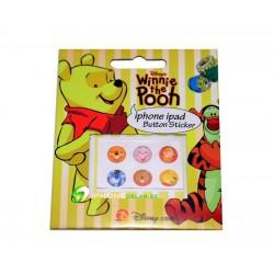 iPhone iPad iPod Sticker Hemknapp 6-pack (Winnie the Pooh)