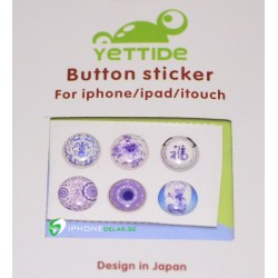 iPhone iPad iPod Sticker Hemknapp 6-pack (Japan)