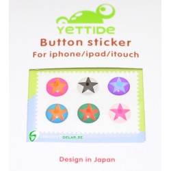 iPhone iPad iPod Sticker Hemknapp 6-pack (Stars)