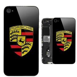 iPhone 4 Bakstycke Porsche (Svart)
