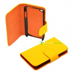 iPod Touch 4 Wallet serie Carbon (Gul)