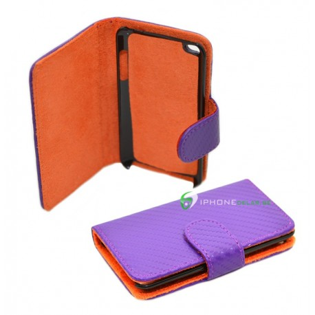 iPod Touch 4 Wallet serie Carbon (Lila)