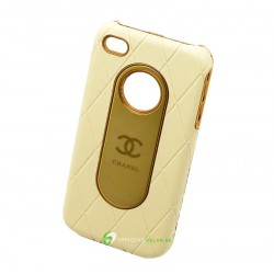 iPhone 4 Chanel Leather (Vit)
