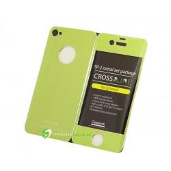 iPhone 4 Crossline SP-2 Metal Set (Grön)