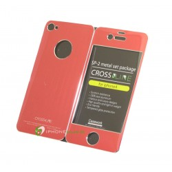 iPhone 4/4S Crossline SP-2 Metal Set (Röd)