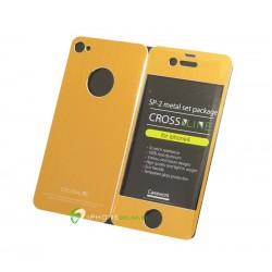 iPhone 4/4S Crossline SP-2 Metal Set (Guld)