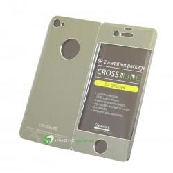 iPhone 4/4S Crossline SP-2 Metal Set (Grå)