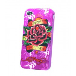 iPhone 4 serie Ed Hardy - Dedicated to The One I Love (lila)