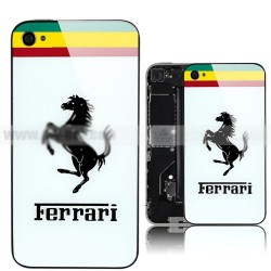 iPhone 4 Bakstycke Ferrari (Vit)