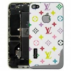 iPhone 4 Bakstycke LV Mix (Vit)