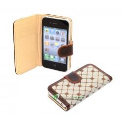 iPhone 4 Plånbok Cubiz (Brun)