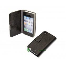iPhone 4 Plånbok Crocodile (Svart)