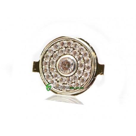 iPhone 4 Hemknapp Diamant (Silver)