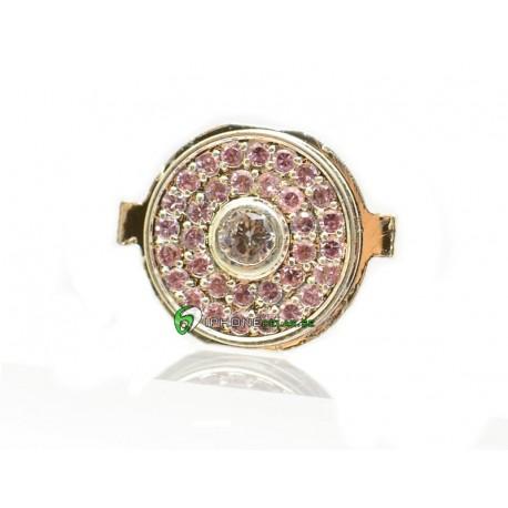 iPhone 4 Hemknapp Diamant (Rosa)