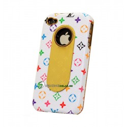 iPhone 4 LV Leather Color (Vit)