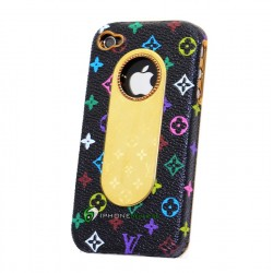 iPhone 4 LV Leather Color (Svart)