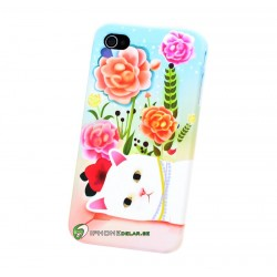 iPhone 4 Cat Flower
