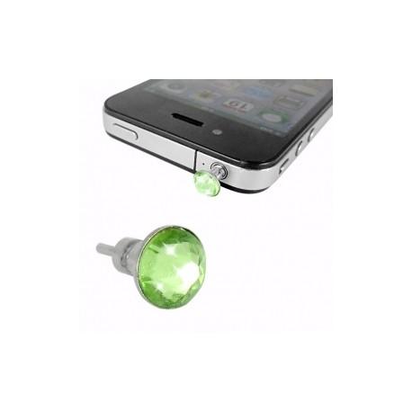 iPhone 4 Hörlursuttag Kristall (Grön)