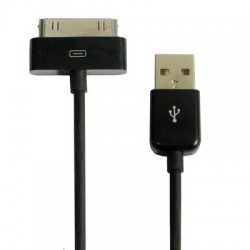 iPhone, iPod, iPad USB-laddare, Synkkabel 2m (Svart)