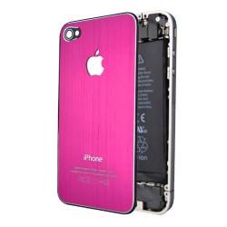 iPhone 4 Bakstycke Borstad Stål (Rosa)