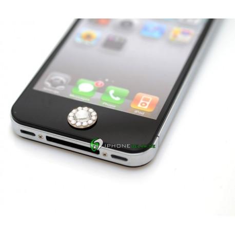 iPhone iPad iPod Lyx Hemknapp (Vit Brilliant)