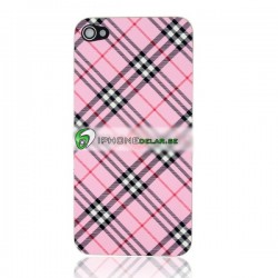 iPhone 4S Bakstycke Burberry Vinyl (Rosa)