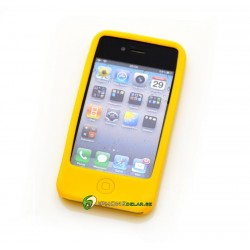 iPhone 4/4S Classic Silicon (Gul)
