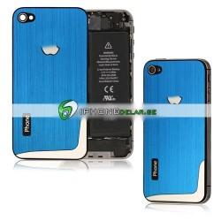 iPhone 4S Borstad L-Design (Ljusblå)