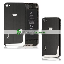 iPhone 4S Borstad L-Design (Svart)