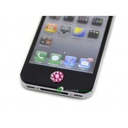 iPhone iPad iPod Lyx Hemknapp (Rosa Brilliant)
