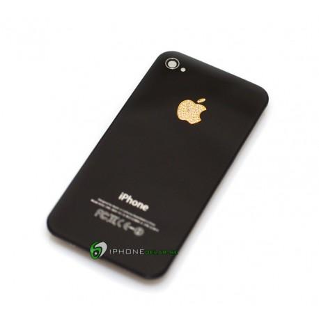 iPhone 4 Bakstycke Svart Diamond (Guld)