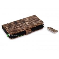 iPhone 4/4S Plånbok Snake Skin (Brun)