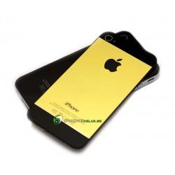 iPhone 4S Bakstycke Borstad Svart Botten Topp (Guld)