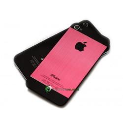 iPhone 4S Bakstycke Borstad Svart Botten Topp (Rosa)