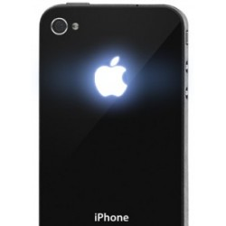 iPhone 4S Apple Led Logo (Svart)
