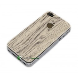 iPhone 4 Bakstycke Wood (Vit)