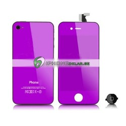 iPhone 4 Digitizer/Bakstycke Chrome Kit (Lila)