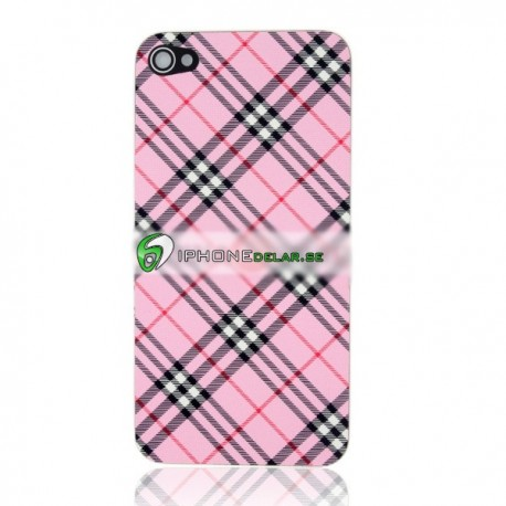 iPhone 4S Bakstycke Burberry Vinyl (Rosa)