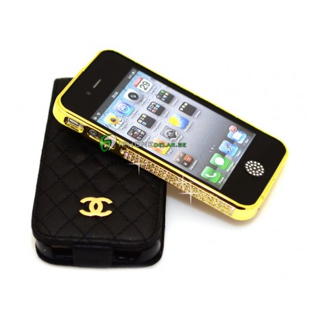 iPhone 4/4S Crystal Bumper (Guld)