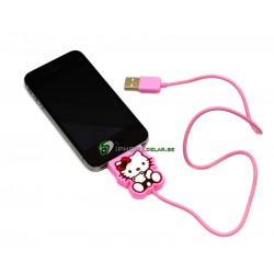 iPhone, iPod, iPad Synkkabel Hello Kitty