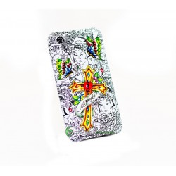 iPhone 3G/GS Ed Hardy Red Heart Cross