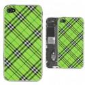 iPhone 4S Bakstycke Tartan Vinyl (Grön)
