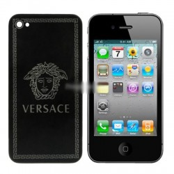 iPhone 4 Bakstycke Versace (Svart)